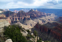 Aussicht auf den wunderbaren Grand Canyon vom Bright Angel Point (Tag 3-4)